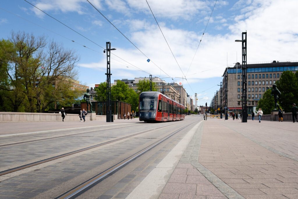 Tampereen Ratikka Hämeenkadulla