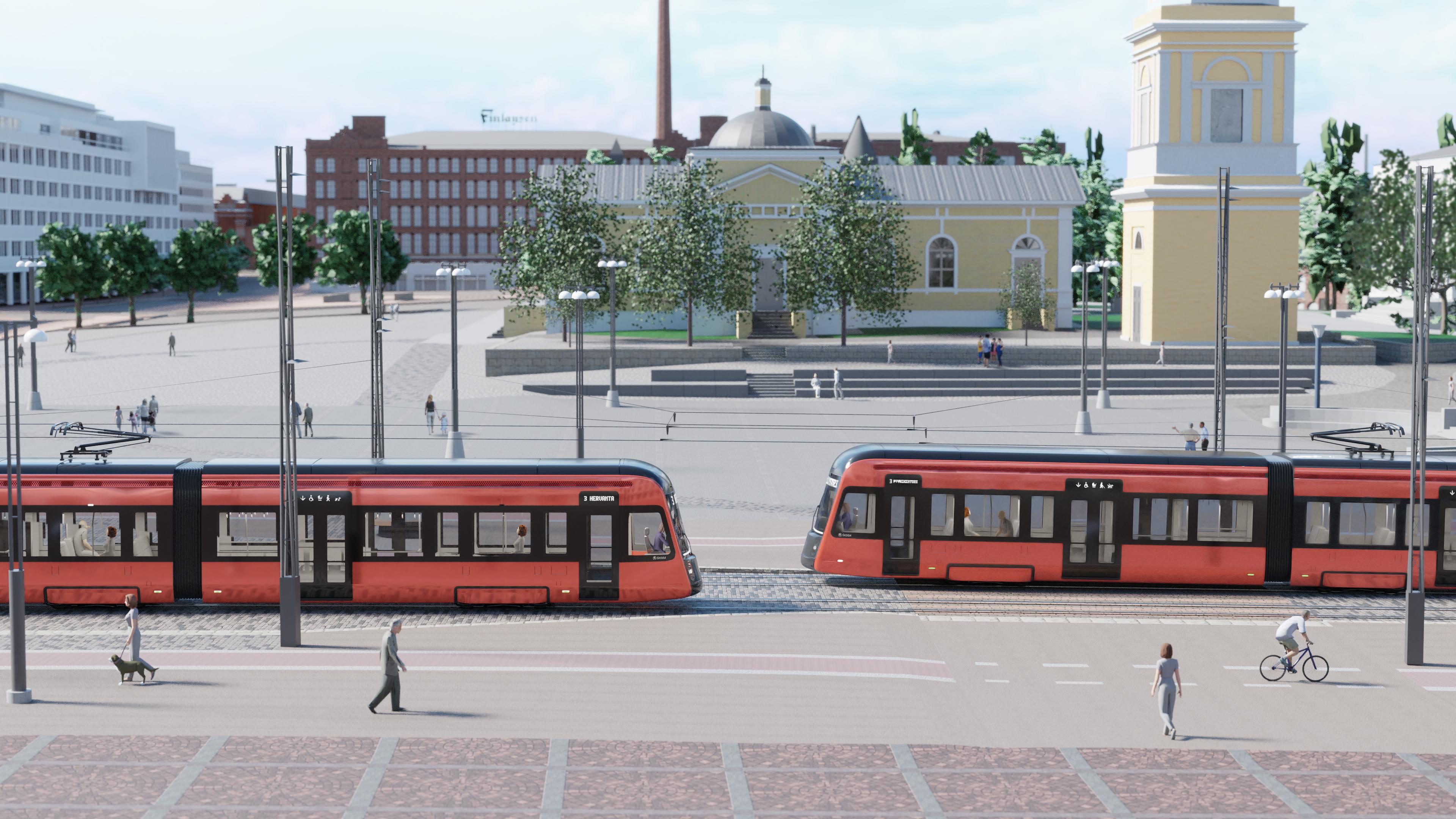 Tampereen Ratikka havainnekuva 2018
