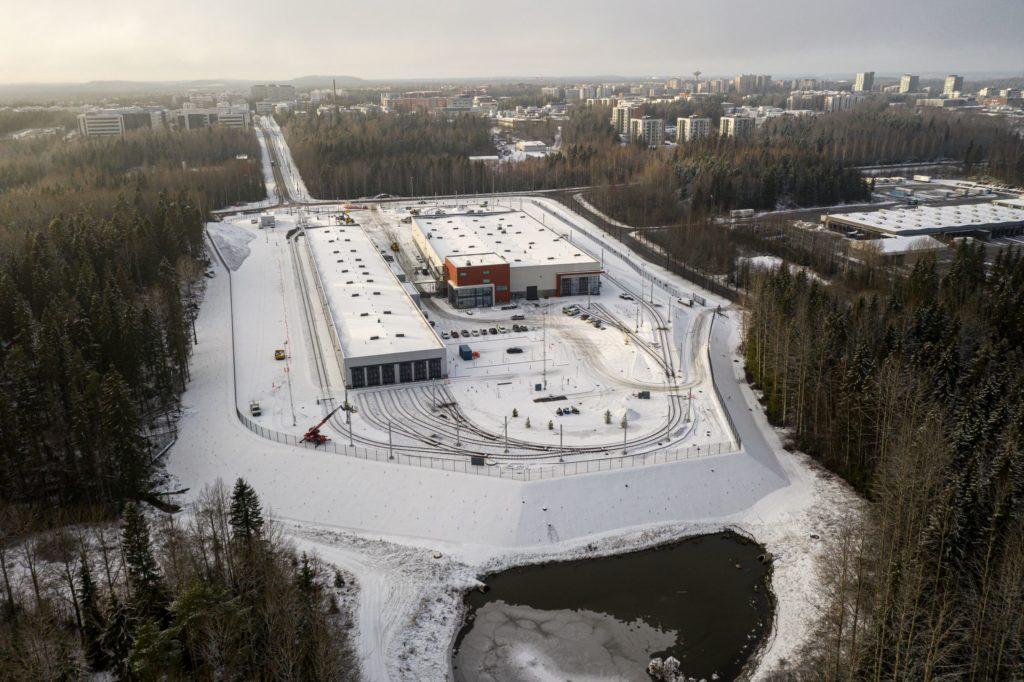 Tampereen raitiovaunuvarikko Hervannassa