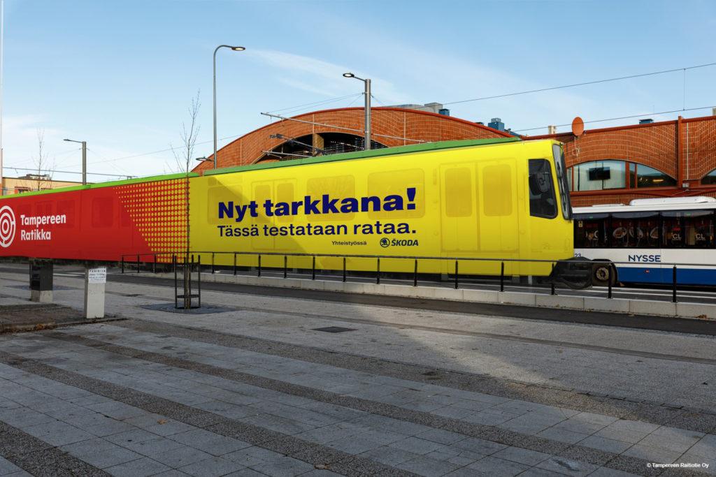 Tampereen Ratikan testivaunun havainnekuva