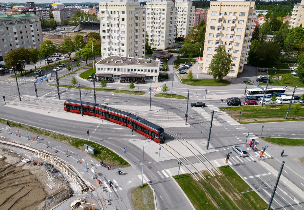 Tampereen Ratikka Kalevassa