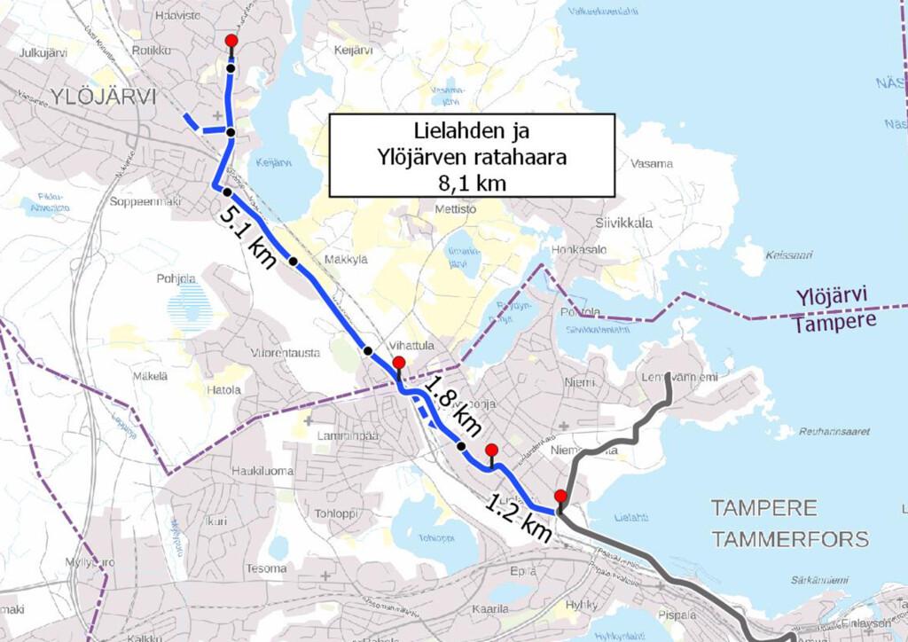 Lielahti-Ylöjärvi-raitiotielinja