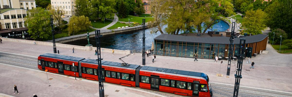 Tampereen Ratikka Hämeensillalla